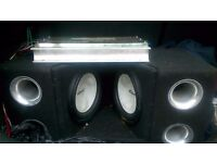 Mutant twin car subwoofer and 800w amp