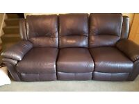 Leather 2 and 3 seater recliners