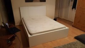 BARGAIN Ikea MALM DOUBLE BED + MATTRESS + drawers NEARLY NEW GERAT CONDITION