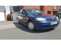 2003 VAUXHALL ASTRA DESIGN 16V 1.6cc NO OFFERS ACCEPTED LESS THAN ASKING PRICE £450