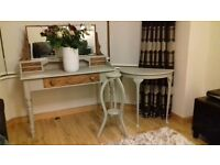 Absolutely stunning desk/dressing table from 1950. Lovely Restored in chalk paint.