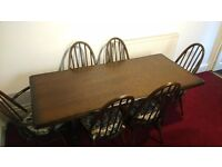 High Quality Solid Oak Dining Table With 6 Chairs