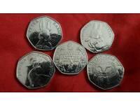 Beatrix Potter 50p coin sets