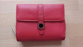 Red Leather Purse - Domo - excellent condition