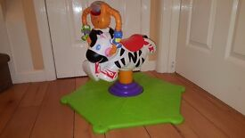 Fisher-Price Bounce and Spin Zebra