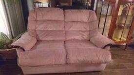Small pink fabric sofa