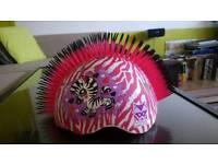 Raskullz Helmet Mohawk - Zebra Helmet