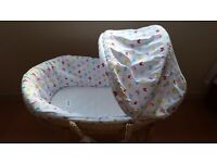 Moses Basket with stand and Mamas&Papas mattress