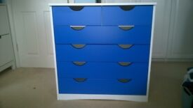 Bedroom set, single bed, double wardrobe+2 drawers & 2+4 drawer chest