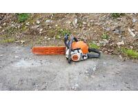 "Stihl chainsaw with 12"" bar"