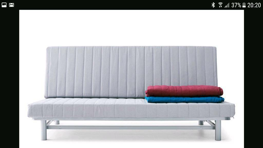 Double futon / sofa bed with mattress