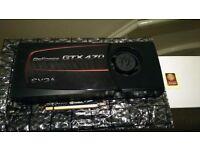 EVGA GTX 470 Video Card - 1280MB GDDR5 - Very Good Condition