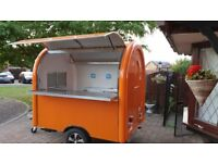 Mobile Catering Trailer Hot Dog Ice Cream Sweets Coffee Trailer Ready To Collect