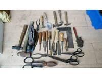 Job lot of vintage tools