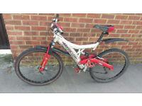 mountain bike barracuda dual suspension 24 gears bicycle disk brake