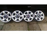 Set of 16 inch alloy rims Vauxhall Frontera / Nissan Terrano
