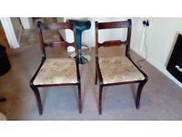 Regency Mahogany Sabre Leg Single Chairs