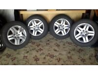 4 x VW golf alloy wheels in good condition