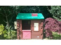 Little Tikes log cabin playhouse and slide