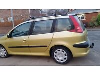 Peugeot 206 long mot full service history tow bar carria cheap on fuel tax economical cd tidy