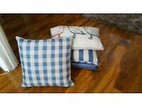 new lovely throw and cushion set with goosedown filled cushions