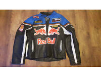 red bull leather motorcycle jacket