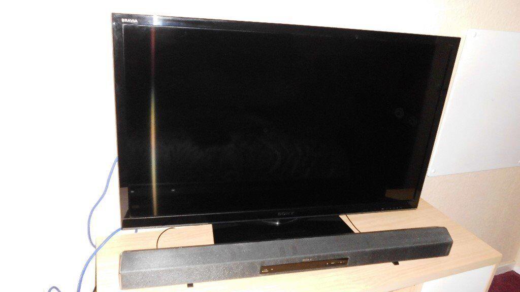 Sony 42 Inch Led Tv With Soundbar And Panasonic Blu Ray