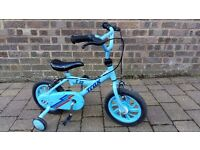 "Blue 12"" bike with stabilisers"