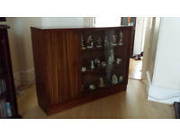 1950's cupboard / display cabinet with glass sliding doors