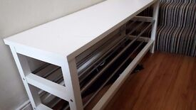 Shoe rack/bench for sale. It measures at 106cm length and its 50cm tall.