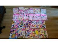 22 girls magazines my little pony, pink, cute, sparkle world etc vgc
