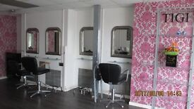 SHOP PREMISES TO LET CURRENTLY HAIRDRESSERS/BEAUTY SALON,KITCHENETTE,WC,FRONT & REAR ACCESS