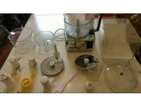 Magimix 3100 compact chrome food processor with all accessories