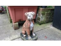 BOXER DOG CONCRETE GARDEN ORNAMENT/FIGURINE.