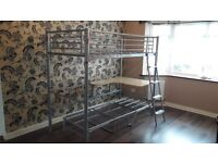 Single High Bed with Futon chair/bed and workdesk