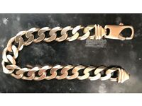 2 ounce 9ct gold solid bracelet