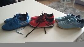 Three Football shoes