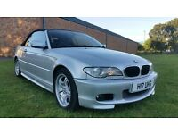 BMW 318I CONVERTIBLE 2005 PRIVATE PLATE M SPORT MODEL HIGH SPEC FULL LEATHER HEATED SEATS ETC
