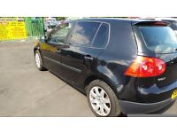 Black Golf 1.9 Diesel with service history and long MOT