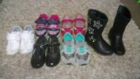 Girls shoe variety sizes 7-8