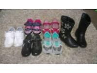 Girls shoe variety sizes 7-8