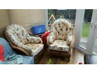 2 x conservatory chairs.. barely used