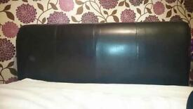 Faux leather headboard, excellent quality