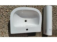 New basin and pedestal