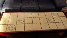 Nest of 3 tiled top tables VGC