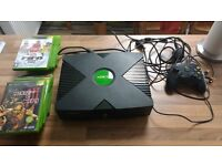 Xbox original with games and 1 controller!