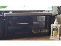 """Black glass 3 shelf t.v stand to hold up to 55"""" t.v"""