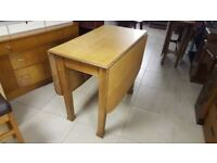Solid Oak Gate Leg Dining Table