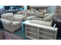 Printed Fabric 3 piece Suite (3seater, 2 seater & Armchair)