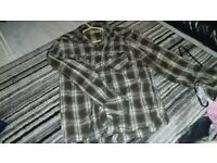 Mens Designer Ted Baker London 5 Checkered Floral Brown/ white/ Black shirt size XXL